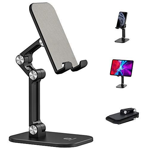 OCYCLONE Handy-Ständer für den Schreibtisch Desktop-Tablet-Ständer Multi Hoch niedrig Winkel Einstellung kompatibel mit Allen Mobiltelefonen/iPad/Kindle/Tablet Falten Halterung