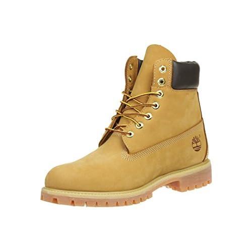 Timberland 6 Inch Premium, Stivali Uomo, Pelle, Larghezza scarpa: medium, Giallo (Wheat Nubuck), 49 EU