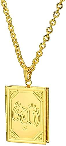 WYDSFWL Collar Fein DIY Marco de Imagen Marco Alá musulmán Colgante Collar Oriente Medio islámico religioso religioso Mujer joyería Accesorios Regalo