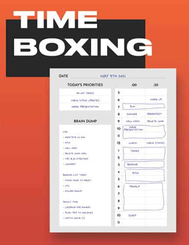 Daily Timeboxing Planner: Daily Scrum, Time Block Journal, Productivity, To-Do List, Time Management (100 Days, A4)