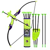 Sport Series Archery Shooting Set, Bow & Arrow Toy, Basic Archery Set Outdoor Hunting Game, Bow and Arrow for Kids Boys Girls, Include Shoulder-strapped Quiver and 12 Suction Cup Arrows