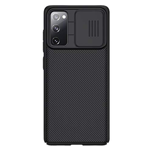 Custodia protettiva per fotocamera Samsung Galaxy S20 FE, ultra sottile con design slide Cap Cover per fotocamera in PC rigido, anti impronte antiurto protezione antigoccia (Samsung S20 FE 5G, nero)