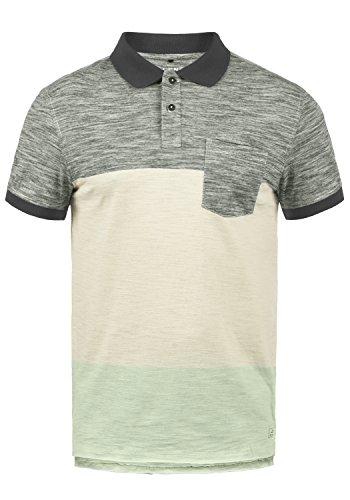 Blend Johansus Herren Poloshirt Polohemd T-Shirt Shirt Mit Polokragen 100% Baumwolle, Größe:L, Farbe:Pewter Mix (70817)