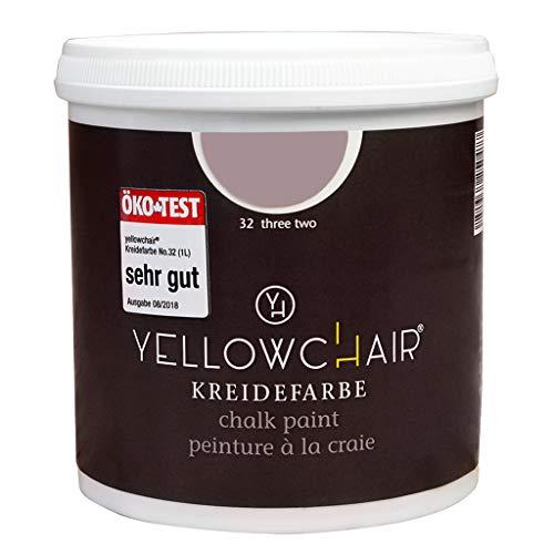 Kreidefarbe yellowchair 1 Liter ÖKO für Wände und Möbel Shabby Chic Vintage Look (No. 32 hortensie)