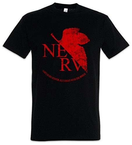 Urban Backwoods NERV Camiseta De Hombre T-Shirt Negro Talla 4XL