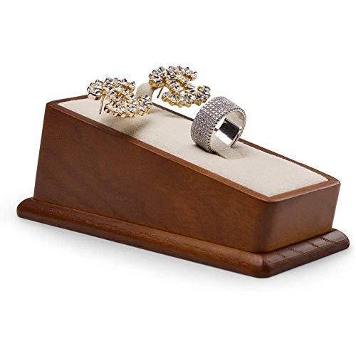 Collane Best Friend, Espositori per gioielli, Espositore per gioielli in legno massello Orecchini rettangolari Porta anelli Espositore per gioielli (Bianco crema) Collana personali