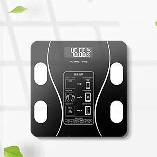 AVOM Moda Bluetooth Cuerpo Escala de Grasa Smart Electronic BMI Analizador de composición 2021 Baño de precisión Negro Joyas de Alimentos Digitales Negras Escalas Postal 831