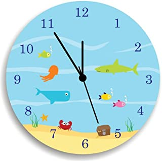 Life Under the Sea WALL CLOCK, Kids Wall Clock, Ocean theme Children Room Decor