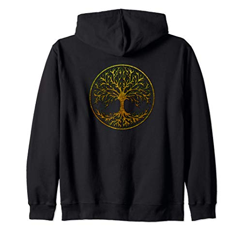 Yggdrasil, Celtic, Tree, Life, Norse, Mythology, Nature, Zip Hoodie