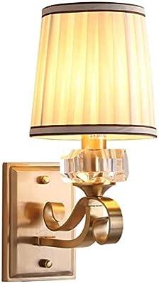 ZHLFDC Américaine Moderne Creative Cristal décoratif Mur Lampe Chambre Étude Salon de Chevet Applique Installation E14 Spirale LED, Ampoule à Incandescence Décoration d'éclairage Applique