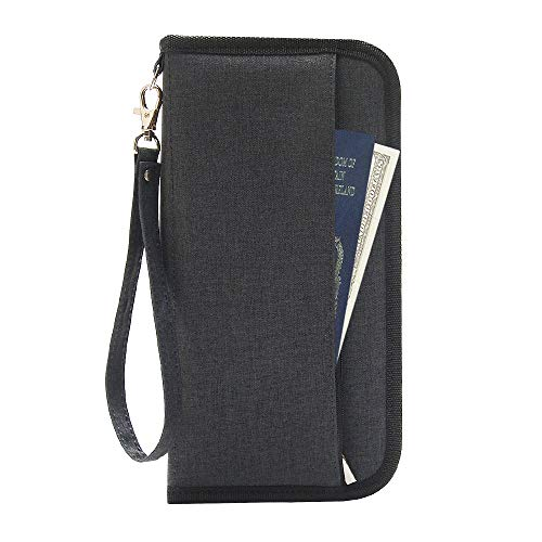 takyu Travel Wallet, RFID Blocking Family Passport Holder with Hand Strap...