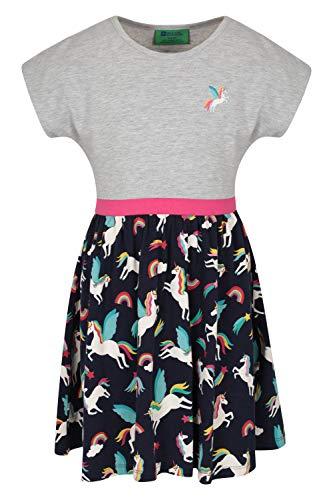 Mountain Warehouse Robe pour Fille Poppy Girl - Vêtement d'été léger, Respirant et Facile d'entretien - Idéale pour Les Vacances, la Plage, Les Voyages et la Marche Gris 9-10 Ans