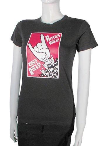 Emily The Strange S/S T-Shirt S/S T-Shirt Kitties Rock, Noir Noir Noir m