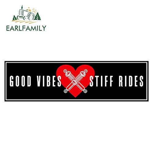 A/X 15 cm x 4,3 cm Good Vibes X Stuff Rides Slap Sticker Impermeable Car Styling Window Car Bumper Decal Vinilo Pegatinas de coche