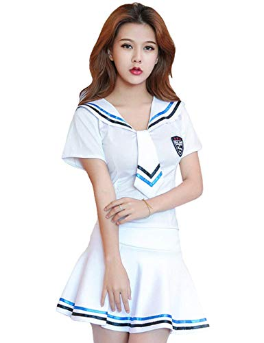 Dessous Dames Sailor Cosplay Suit Matrosenpak Babydoll lingerie Elegant Fashion Young Fashion Schoolmeisjes Matrozen kostuum ondergoed