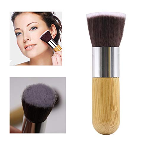 Maquillage Brosses plat haut de teint en poudre Brush pinceau de maquillage Matériel fiable (Handle Color : Yellow)
