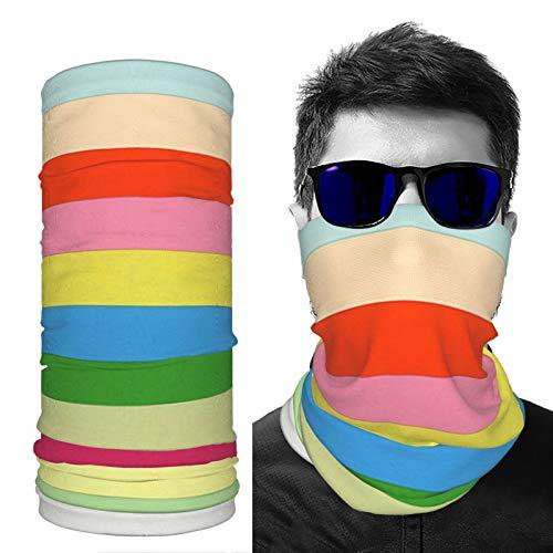 saibing Bandana de seda de hielo a prueba de polvo para cuello, transpirable, muestras de color, protección solar, máscara ligera para hombres y mujeres