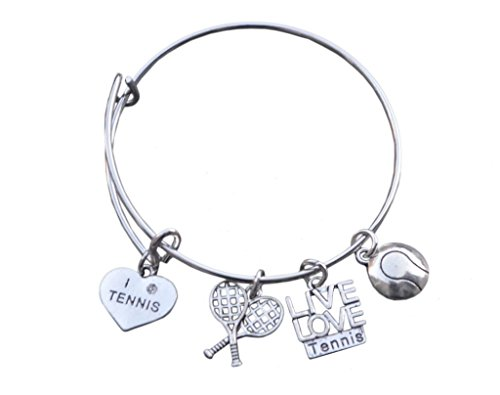 Infinity Collection Tennis Bracelet- Tennis Jewelry-Tennis Bangle- Perfect Tennis Players, Coaches & Tennis Teams