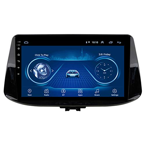 Flower-Ager Android 9 2 DIN Autoradio para Hyundai I30 2017-2018 Soporte Sistema de navegación GPS DSP Enlace Espejo para Android y iPhone Controles del Volante AUX/CAM/DVR Input,WiFi,2+32G