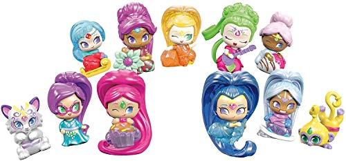 Mattel Shimmer & Shine-Botellas de muñecas genios sorpresa, modelos surtidos, juguetes +3 años, multicolor DTK47