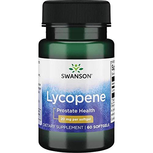 Swanson Lycopene Supplement, Prostate Health Supplement 20 mg, 60 Softgels