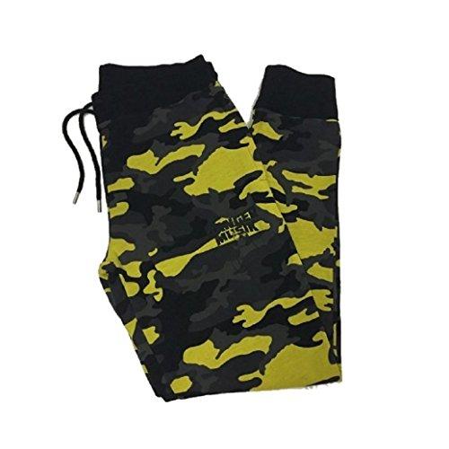 Banger Musik Hose Yellow Camouflage (S)