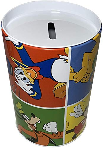 Mickey Mouse Coin Bank Comic Strip Style Design. Coin Collecting Coin Bank, Novelty Item