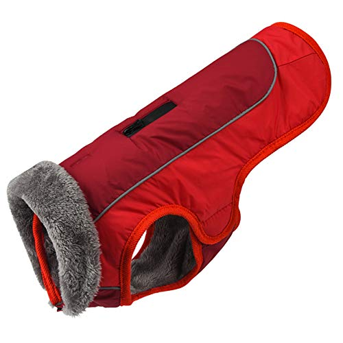 Apetian Dog Cold Weather Coats Winter Dog Vest Warm Dog Jacket Belle (L, A3-Red)