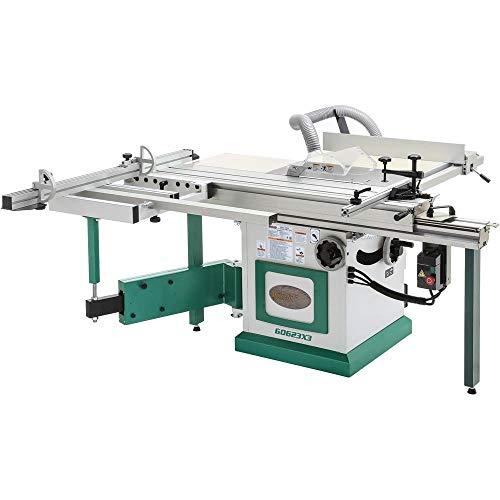 "Grizzly Industrial G0623X3-10"" 7-1/2 HP 3-Phase Extreme-Series Sliding Table Saw"