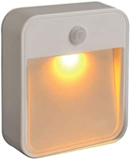 Mr. Beams MB720A Sleep Friendly Battery-Powered Motion-Sensing LED Stick-Anywhere Nightlight with Amber Color LED Light, 1...