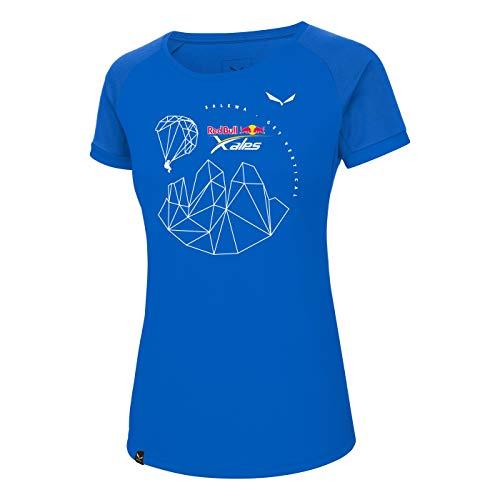 Salewa T-Shirt Dri-FIT Femme Redbull X-Alps FR:38 Bleu Marine