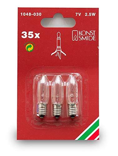 Konstsmide 1048-030 Ersatzbirne / für LED Innen- und Außenbaumketten /   7V, 2,5W / 3er Blister / E10 Schraubgewinde