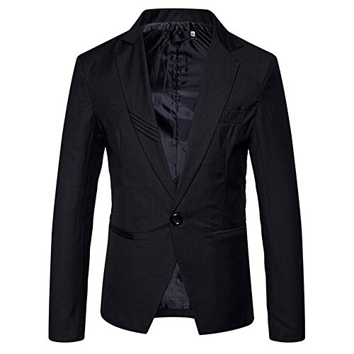 Mens Lightweight Blazer 1 Button Slim Fit Party Blazer Stilvolle Casual Chic...