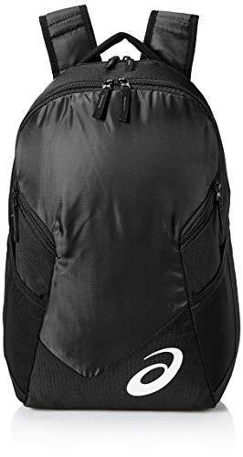 ASICS Unisex-Erwachsene Edge Ii Backpack Rucksack, schwarz/schwarz, Einheitsgröße
