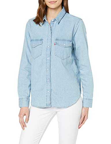 Levi's Essential Western Camicia, Blu (Cool out (2) 0001), Small Donna