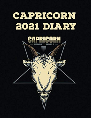 Capricorn 2021 Diary: Star Signs Monthly Planner Calendar Organizer Gift for Teens Students Teachers Coworkers Friends Family: Wide Lined Ruled Paper ... Journal Workbook 367 pages (8.5' x 11')