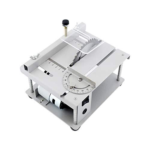 SIRUL Mini Sega da Tavolo, utensile da Taglio da Tavolo Multifunzionale per la Lavorazione del Legno Fai-da-Te, con Regolazione dell'angolo della velocità della Lama della Sega