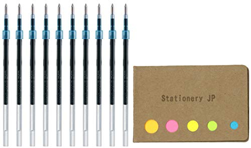 Uni-ball SXR-7 Refills for Jetstreem Ballpoint Pen, 0.7mm, Blue Ink, 10-Pack, Sticky Notes Value Set