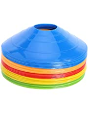 マーカーコーン トレーニングコーン コンパクト マーカーディスク サッカー/フットサル用 カラーコーン 5色 25枚セット収納袋付き