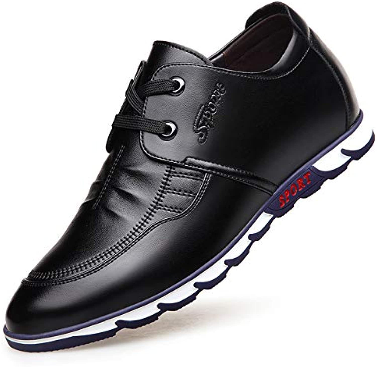 LOVDRAM Men'S Leather shoes Increased Casual shoes With Men'S Leather shoes Spring Men'S shoes