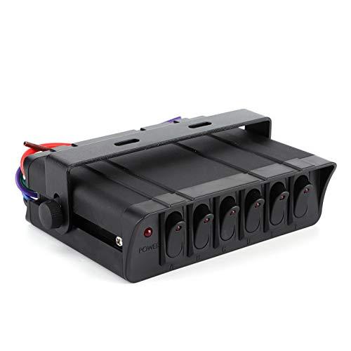 Caja de Interruptor basculante de luz roja 3P Interior automotriz Interruptor basculante de Barco práctico Panel de Palanca de Coche para Accesorio de Coche