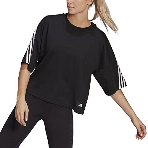 adidas womens 3-Stripes Tee Black/White X-Large