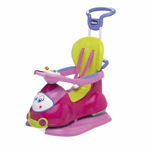 Chicco Quattro Rosa Cavalcabile Primi Passi Prima Infanzia Giocattolo 277, Colore, 8003670746409