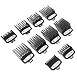 wastreake Guards Cutting Guides Professional Comb Set Specially, Clipper Guard Set Attachment Combs Portable Durable Metal Clip for Clipper Premium