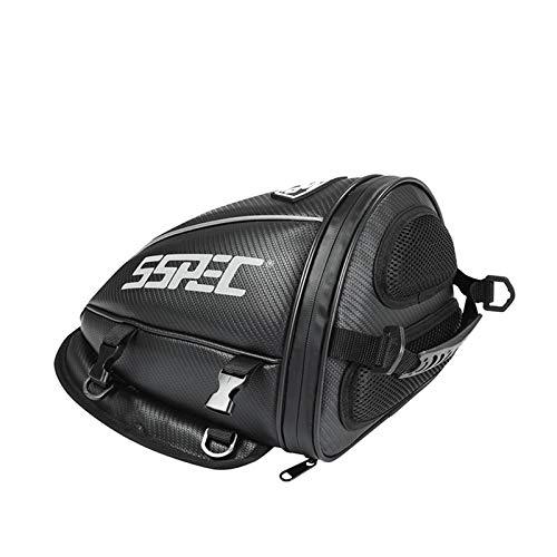 Baul Case para Bolsa de Cola de la Motocicleta Negro 9l Bolsas de Asiento Trasero Motorbike Saddlebags Racing Rider Maleta (Color : B)