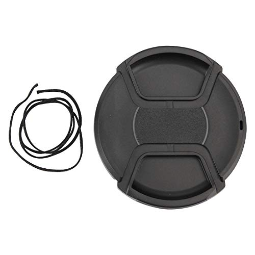 Sghjfj Cubierta de Lente 77mm Centro Pinch cámara Tapa del Objetivo (Negro)