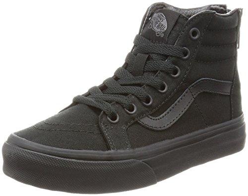 Vans Kids SK8 HI-Zip (POP Check) Shoes Black Black Size 1.5