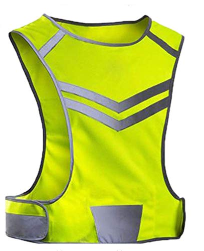 Endure Healthy Lifestyle Reflective Fluorescent High Visibility vest High Vis Running Cycling vest for Night Jogging Dog Walking Horse Riding Medium