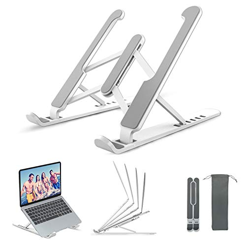 MISDUWA Soporte para ordenador portátil,multiángulo ajustable,soporte para portátil,ventilado,portátil,antideslizante, compatible con MacBook Air,Pro,Dell,10-15,6pulgadas,tablet de plástico y silicona