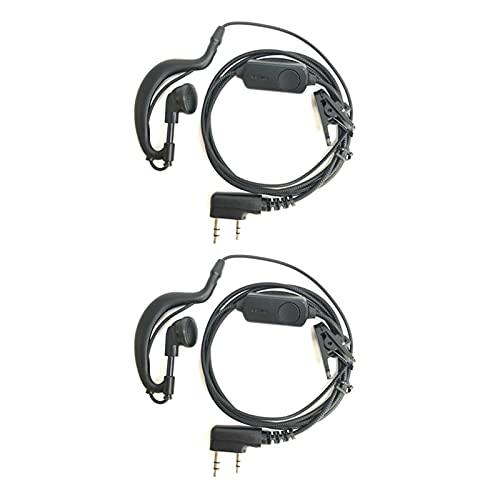 ZRNG Ajuste para BAOFENG WALKIE Talkie Auriculares Ajuste Adecuado para UV10R UV9R Plus UV82 DM-1801 A58 UV5R Auricular Accesorios Walkie-Talkie 2021 Apply to K Type 2PCS